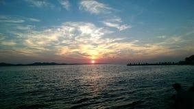 Der meiste schöne Sonnenuntergang in der Welt Stockbilder