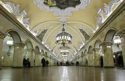 Der meiste schöne Untergrundbahninnenraum Lizenzfreies Stockfoto
