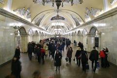 Der meiste schöne Untergrundbahninnenraum stockfotografie