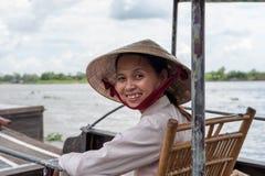 Der Mekong-Deltalächeln Lizenzfreie Stockfotografie