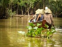 Der Mekong-Deltalebensstil Stockfoto