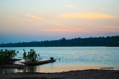 Der Mekong im Sonnenuntergang Lizenzfreie Stockbilder