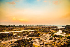 Der Mekong-Schutzdürre Lizenzfreie Stockfotos