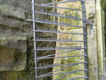 Der Metallflugsteig 2 Stockfotografie