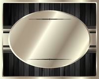 Der Metallrahmen auf einem dunklen hölzernen Hintergrund 13 Stockfoto
