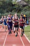 Der 1600 Meter-Rennen der Männer Stockfoto