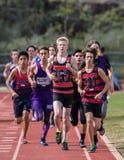 Der 1600 Meter-Rennen der Männer Stockbild