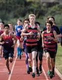 Der 1600 Meter-Rennen der Männer Stockbilder