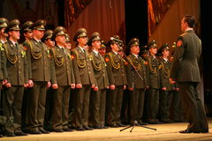 Der Militärchor der russischen Armee Lizenzfreies Stockbild