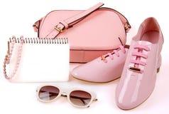Der minimale Satz der Schönheiten Mode-Accessoires Lizenzfreies Stockbild