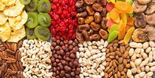 Der Mischung der Nuss-, getrockneter und kandierterfrucht Lizenzfreies Stockbild