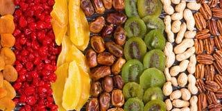 Der Mischung der Nuss-, getrockneter und kandierterfrucht Stockfotografie