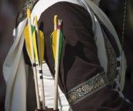 Der mittelalterliche Bogenschütze Stockbild