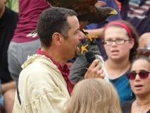 Der mittelalterliche Falkner 10 des Festival-2016 Stockbild