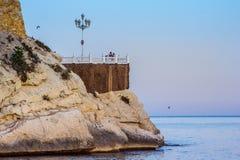Der Mittelmeerbalkon in Benidorm Stockbilder