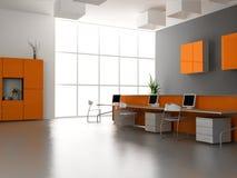 Der moderne Büroinnenraum lizenzfreie abbildung