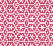 Der modernen nahtloses Muster Hexagon-Blume Mosaic Le Domus Romane Stockbild