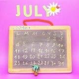 Der Monat Juli Stockbilder