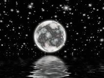 Der Mond auf dem dunklen Himmel Lizenzfreie Stockfotos