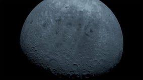 Der Mond in der Dunkelheit an Israels Wüste Negev lizenzfreie stockbilder