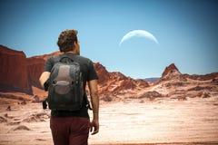Der Mond im Mond-Tal Lizenzfreie Stockfotografie