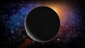 Der Mond im Raum und in den Sternen vektor abbildung