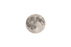 Der Mond lokalisiert auf Weiß lizenzfreie stockfotografie