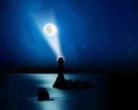 Der Mond steigen oben Stockfotos