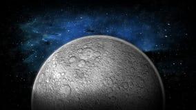 Der Mond und der Raum lizenzfreie abbildung