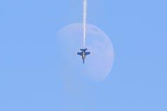 Der Monddurchlauf stockfoto