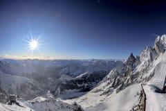 Der Montblanc-Ansichtlandschaft Lizenzfreie Stockbilder
