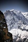Der Montblanc in den französischen Alpen lizenzfreie stockbilder