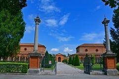 Der monumentale Kirchhof von Certosa - Ferrara, Italien Stockfotografie