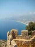 Der Morgen. Alanya Schloss. Die Türkei Lizenzfreies Stockbild