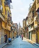 Der Morgen auf Al-Muizzstraße Lizenzfreies Stockbild