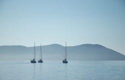 Der Morgen im Meer Stockfoto