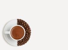 Der Morgen Tasse Kaffee stockfoto