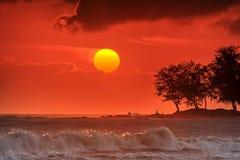 Der Morgensonnenaufgang Stockbilder