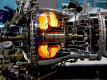 Der Motor des Flugzeuges Lizenzfreie Stockbilder