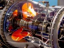 Der Motor des Flugzeuges Stockfotos