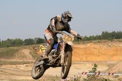 Der Motorradfahrer lizenzfreie stockbilder