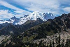 Der Mount Rainier vom Paradies Stockfotografie