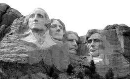 Der Mount Rushmore B&W Stockfotos