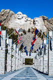 Der Mount Rushmore Nationaldenkmal in South Dakota Sommertagesesprit Lizenzfreie Stockbilder