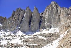 Der Mount Whitney, Kalifornien 14er und Höhepunkt des Zustandes Stockfotos