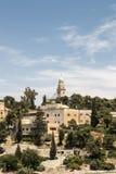 Der Mount Zion und die Abtei des Dormition Stockbild