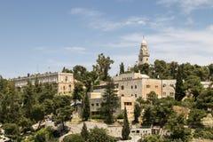 Der Mount Zion und die Abtei des Dormition Stockfotos