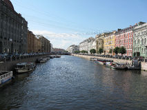Der Moyka-Fluss, St Petersburg Stockfoto