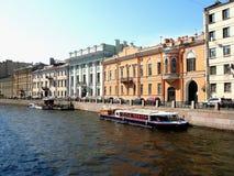 Der Moyka-Flussdamm, St Petersburg Stockfoto