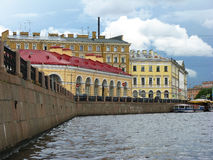 Der Moyka-Flussdamm St Petersburg, Russland Lizenzfreie Stockbilder